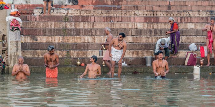 Washing in the Sacred Ganges