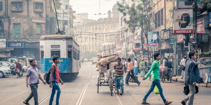 Busy Tram Lines in Kolkata