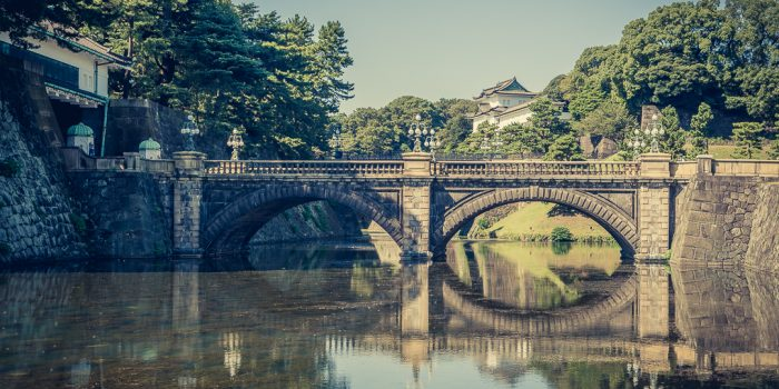 A Glimpse of Tokyo Imperial Palace from Nijubashi Bridge