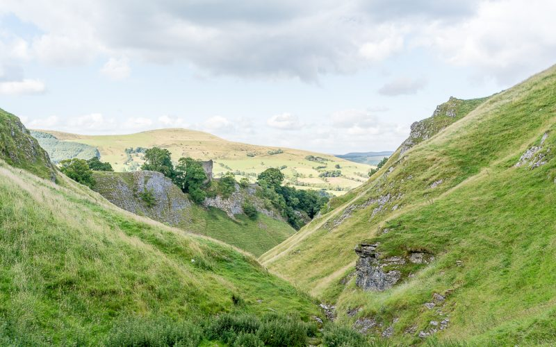 The Walk Down to Peveril Castle