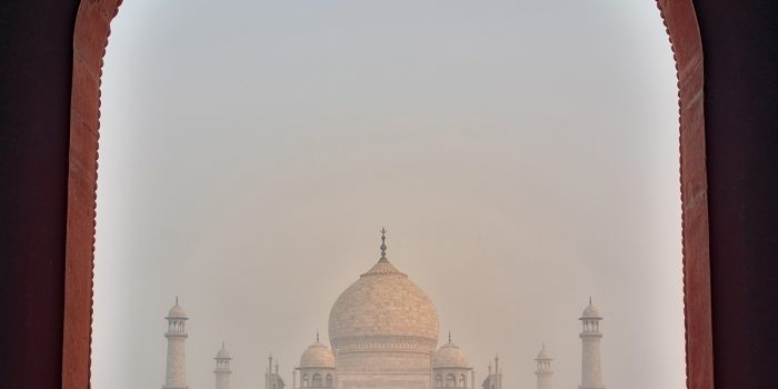 First Glimpse of Taj Mahal