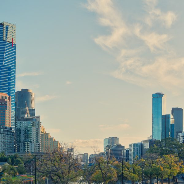 Melbourne Skyline from Birrarung Marr Park