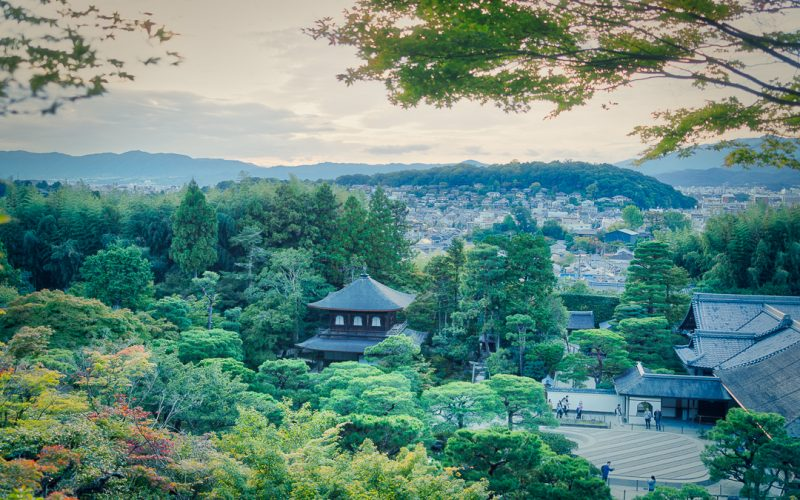 View of Kyoto from Ginkakuji or Silver Pavilion